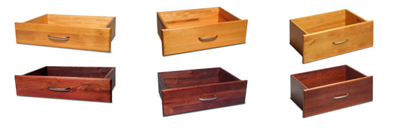 John Louis Home Wood Storage Drawers, Honey Maple, Paradise Closets and Storage