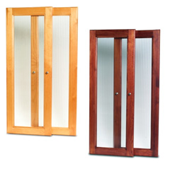 John Louis Home Solid Wood Honey Maple and Red Mahogany Tower Doors, Paradise Closets and Storage
